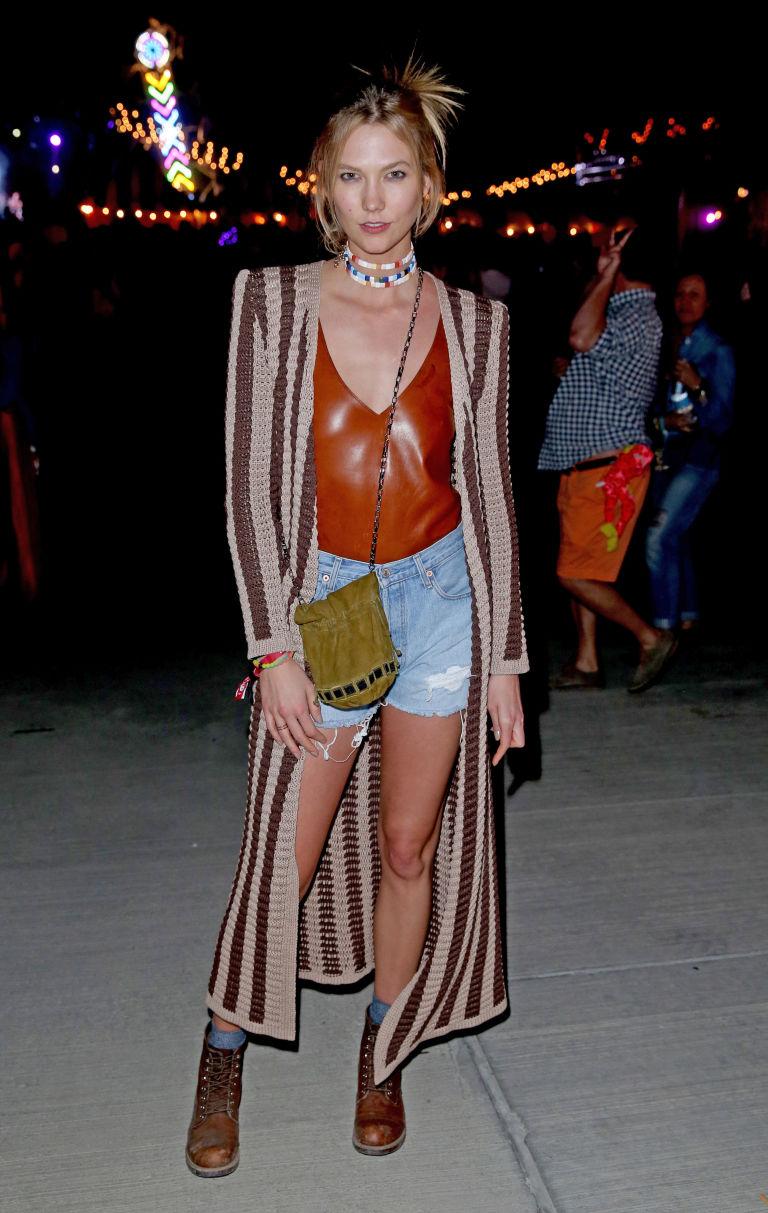 Celebrity fashion at Coachella Karlie Kloss