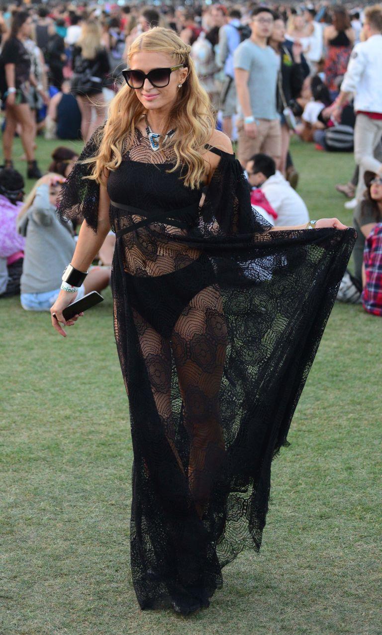 Celebrity fashion at Coachella Paris Hilton